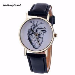 relógio couro couro prata Desconto Susenstone homens relógio top marca de moda masculina relógio de prata pulseira de couro cinta relógio de pulso venda quente dos homens relógio relogio masculino 15