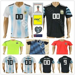 Wholesale Messi Jersey Xl - Argentina Soccer Jersey 10 MESSI DI MARIA KUN AGUERO MARADONA HIGUAIN TEVEZ DYBALA LAVEZZI camisetas futbol camisa de futebol maillot