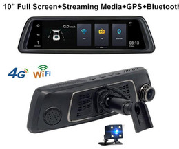 """Wholesale Rearview Screen - 1080P 12 in 1 ADAS Android GPS Rear View Mirror Car dvr Cameras 10"""" Touch Screen Duel Lens 4G Wifi Rearview Recorders DVR Cam with Bracket"""