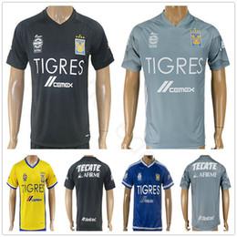 Wholesale Custom H - 2018 Mexican League Club Tigres UANL Soccer Jersey 4 H. Ayala 8 ZEL ARAYAN 9 VARGAS 10 GIGNAC 18 SOSA Custom Football Shirt