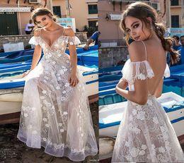Wholesale Orange Silk Petals - 2018 Berta Illusion Lace Long Dresses Party Evening Sexy Spaghetti Strap Backless Prom Celebrity Gowns Elegant Custom Made vestido de fiesta
