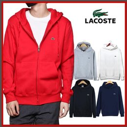 Abrigo largo de polo online-S-3XL nuevo abrigo de cocodrilo polo hombres de manga larga 330 # chaqueta de manga larga camisa de polo de algodón de los hombres calientes