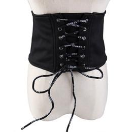 Cinturones de tela negra online-15 CM Super Cinturones de Cintura Ancha Negro Blanco Tela Cinturón Cinturón Accesorios de Vestir Moda Europea Señoras Cinturones Vendaje Strechy