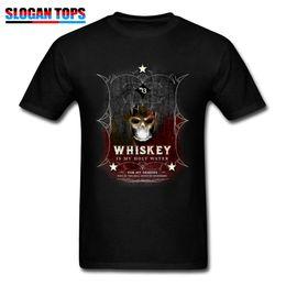 T-shirt Whisky T-Shirt Skull Classic T-shirt da uomo Holy Water Goth  Halloween Top Hip Hop T-shirt Hard Rock Funky Streetwear Nero magliette  hard rock presa e6fb19398741