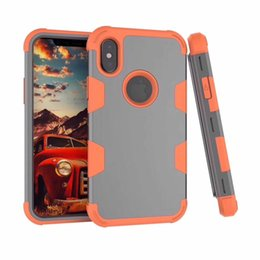 Wholesale Robot Defender - 3 in 1 Hybrid Robot Shockproof Case TPU Commuter Defender Armor Case Cover For iPhone 6 6s plus 7 7s plus S8 Plus
