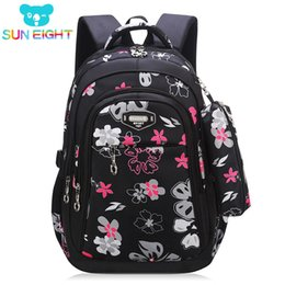757b1062ccc1 New Big Capacity Zipper Black pink School Bags for Girls Brand Women  Backpack Cheap Shoulder Bag Wholesale Kids Backpacks Floral S914