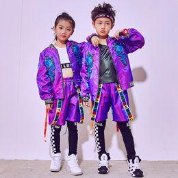 4f85562927f93 2018 Hip Hop Dance Costume Kids Boys Disfraces de Jazz Girls Street Dance  Clothing Día de los Niños Ropa de Desgaste Etapa Traje DN1793 trajes de  chica hip ...