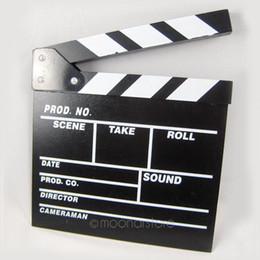 Canada Réalisateur Vidéo Clapboard Dry Erase TV Film Clapper Board Ardoise avec Bâtons de Couleur 20 * 20cm Offre