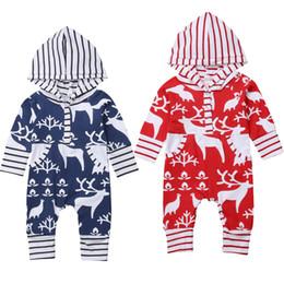 Bebé bebé niño niña navidad con capucha mameluco del mono ropa navidad  ciervos bebés niños niñas mamelucos Onesies regalo navidad para niños ropa  para bebés ... 99bec23bf6e0