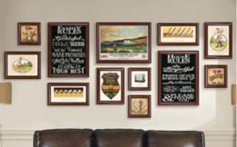 Wholesale Sala de estar de lujo Sofá de la oficina Telón de fondo Pintura decorativa Atmósfera creativa Negro Marco de fotos Pinturas Adornos colgantes