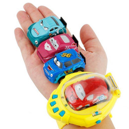Wholesale Racing Car Toys - 4CH Gravity Sensor Smart Watch Remote Car Control RC mini Racing Toy Car NEW Gift Toys FFA239 12PCS 4colors