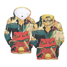 naruto uzumaki jacket Promo Codes - Cartoon characters Uzumaki Naruto Sasuke 3d Anime Hoodie Sweatshirt Men Women Streetwear Hoodies casual Pullover Jacket Coat