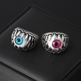 Pupilas dos olhos on-line-2018 Jóias Dia Das Bruxas Devil's Eye Ring Hot Jóias Masculina Pupil Eyes Personalidade Anel Presente Frete Grátis