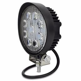 12v led luces de tractor online-4 Inch 27W LED Luz de trabajo Flood Fog offroad ATV 4x4 Lámpara de conducción 12V para Tractor de motocicleta Camión Remolque SUV Barco 4WD