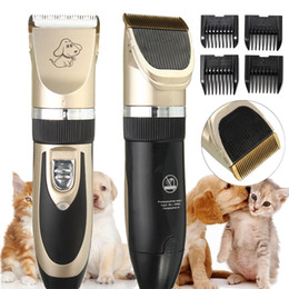 cortadoras de pelo Rebajas Animal Grooming Eléctrico Scissor Profesional Pet Dog Hair Trimmer Set Clippers Cat Cutters Máquina Shaver Segadora Clipper
