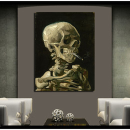 marco del cigarrillo Rebajas Cráneo con cigarrillo encendido por Vincent  Van Gogh Pintura al óleo Lámina be08f3e5d26
