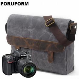 bolsa de cámara dslr Rebajas Bolso de la cámara DSLR Bolso de la lona a prueba de agua Funda de la cámara para Canon Nikon Sony FujiFilm Olympus Cámaras DSLR de Panasonic LI-1860