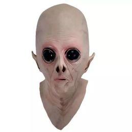 Masques alien en latex en Ligne-Effrayant Silicone Visage Masque Extraterrestre UFO Extra Terrestre Partie ET Horreur Caoutchouc Latex Masques Complets Pour Halloween Party Toy Prop