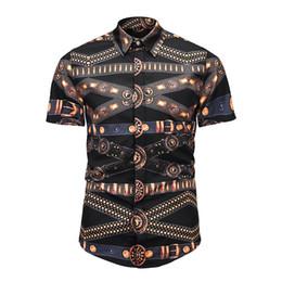 54aeffbc8cf07 estilo harajuku impressos tops impressos Desconto 20118 Moda Verão Moda  Masculina Casual Camisa dos homens Top