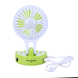 Wholesale uses for wind - USB Charging Fan Wind Speed Adjustable Folding Mini Fan with LED Lamp Multifunctional Small For Office Students use