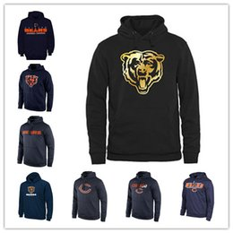 trägt sweatshirts Rabatt Chicago Bears Sideline Circuit Orange Trainingspullover Pro Line Schwarz Gold Collection Pullover Druck Hoodies