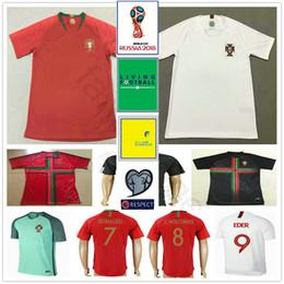 Wholesale Quick Stop - 2018 Portugal World Cup Jersey 7 Ronaldo Vieirinha SILVA MIGUEL F.COENTRAO J.MOUTINHO NANI Custom Red Home White Away Soccer Football Shirt