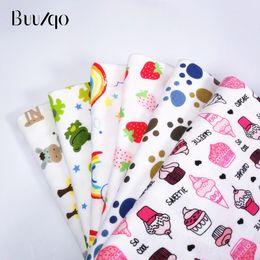 d0297bd692 Buulqo 50x40 cm Stampato Combinato 40 s cotone tessuto a maglia patchwork  fai da te cucito sostentamento abbigliamento bambino tessuto jersey di  cotone