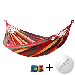 Wholesale outdoor adult swings - Big size 303cm*150cm two-person Hammock Courtyard outdoor adult swing Wild camping hanging bed ship from Germany stock