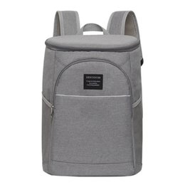 a7dbfcc903 waterproof ice bags Promo Codes - 18L Cooler Backpack Thermal Insulated Ice  Pack Oxford Lunch Box