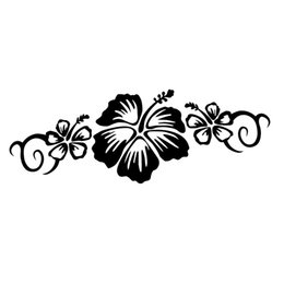 a5d32637615224 18 6.5cm Hibiscus Trio Warm And Romantic Pretty Flower Centerpiece Car  Sticker Decal Funny Personality Stickers flower decals cars outlet