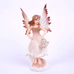 Wholesale Beautiful Craft Rooms - Garland girl beautiful little angel ornaments European resin crafts creative gifts Home Furnishing living room decor
