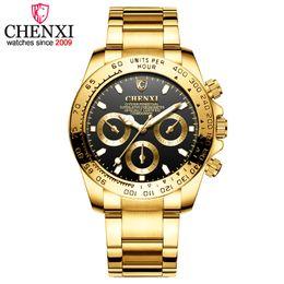 Relojes analógicos de gran deporte online-Men Fashion Big Dial Reloj de lujo deportivo analógico Fecha de oro completo de acero relojes de pulsera de cuarzo a prueba de agua masculina Relogio Masculino