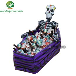 Wholesale Inflatable Outdoor Christmas Decorations - 102*30*26cm Skull Inflatable Cooler Skeleton Drink Ice Bucket Halloween Party Supply Christmas Decoration Toys Outdoor Tableware