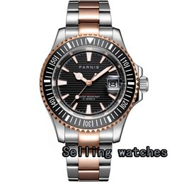 2020 сапфировое покрытие  41mm Rose Gold plated CASE  watch black dial sapphire glass luminous ceramic bezel MIYOTA Automatic wristwatch men дешево сапфировое покрытие