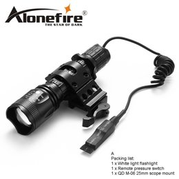 Wholesale tactical flashlight holder - AloneFire TK400 CREE XML L2 Tactical Flashlight Torch linternas For Outdoor Hunting Mount Holder remote control