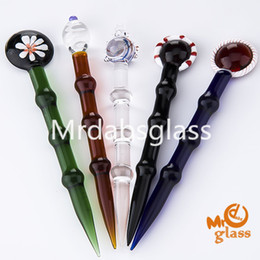 Wholesale Quartz Carved - Glass Dabber for Oil and Wax glass oil rigs Dab Stick Carving tool Glass cap For Vapor E nails, Dab nail quartz enail