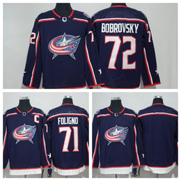 Wholesale Blue Cam - 2018 AD Columbus Blue Jackets Hockey Jersey 72 Sergei Bobrovsky Nick Foligno Brandon Saad Boone Jenner Cam Atkinson Scott Hartnell Men Youth