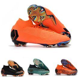 tacos de fútbol superflys Rebajas Hombres niños CR7 Melhor Elite Ronaldo KJ VI 360 FG Fútbol Zapatos Fútbol Bota Mercurial Superfly Cristiano Ronaldo mujer Moda Socce Cleats