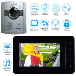 Wholesale Camera Intercom Systems Home - New 7 inch Monitor Video Door Phone Intercom System Video Doorbell With 800TVL Outdoor Camera Night Vision Unlock Home Security