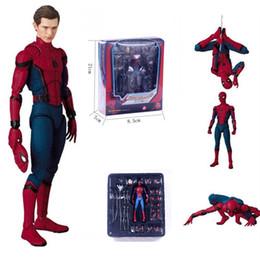 18 cm PVC Spiderman Action Figure Giocattoli Hero Spider Man Figurine Modello Anime Movie Figure Collection Toys For Boys In Box da