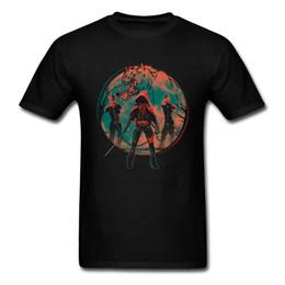 Kapuze gedruckte hemden online-3XL Cool T-shirt Große Wolf Red Hood Print Man Shirt Benutzerdefinierte Mode Schwarz Tees Kurzarm Anime Trend