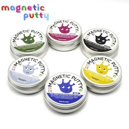 Wholesale Decompression Toys - 6 Colors Magnetic bounce Putty Rubber Mud Hand Putty slime DIY slime Playdough Strong plasticine Originality Decompression Toys Devour
