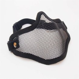 steel tactical mask Coupons - V1 V11 Steel Wire Mesh Half Face Mask Elastic Adjustable Breathable Tactical Hunting Protection Cover Face Mask