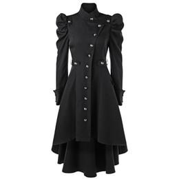 b0ef9a25 st ups Скидка Кэнэнси Женская пуховая наплечная кнопка Up Dip Hem Trench  Coat для женщин Мода