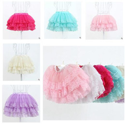 Wholesale Children S Clothes Tutus - Girls Skirts Summer Baby Clothes Skirts For Girls Solid Kids Party Tutu Top Quality Skirt Children Clothing 6 Colors DHL Free Shipping