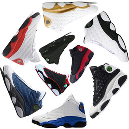 Wholesale Royal Basketball - Basketball Shoes 13 13s Chicago 3M GS Hyper Royal Italy Blue bred Sneakers Bordeaux DMP Wheat Olive Ivory black cat sports shoes size40-47
