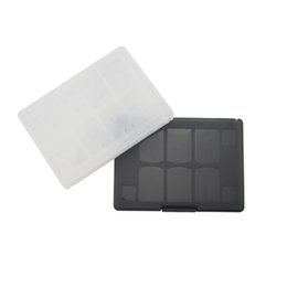Wholesale Games For Ps Vita - 18 in 1 Game Memory Card Holder Case Storage Box for Sony PS Vita PSV White Black DHL FEDEX EMS FREE SHIPPING