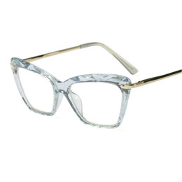 6ca96a0eed Europe and the United States fashion retro flat mirror cat eye personality hipster  glasses frame men and women small face JW