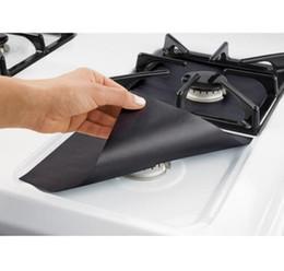 rivestimenti riutilizzabili Sconti 4 pezzi in fibra di vetro fornello a gas protezioni riutilizzabili stufa a gas bruciatore coperchio liner mat pad utensili da cucina di casa adattarsi quasi stufe a gas