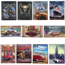 arte da parede da motocicleta Desconto Temas de Sinal De Lata De Metal Temas diferentes Pep Meninos Pershing Quadrado Carro Tin Cartaz Retângulo de Motocicleta Barato Pinturas de Ferro Cartaz Bar Pub Wall Art